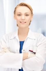 smiling female doctor in hospital