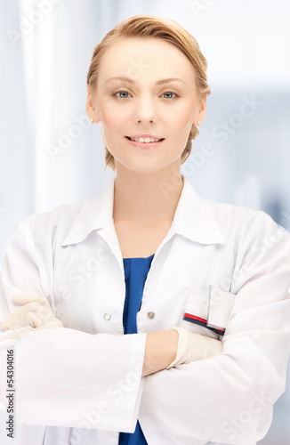 smiling female doctor in hospital