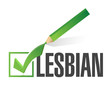 selected lesbian with check mark. illustration