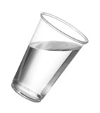 Pure drinking water in disposable plastic cup