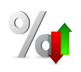 percentages up and down illustration