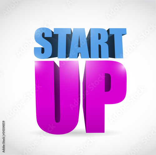 start up text illustration design