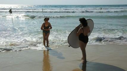 Behind the scene: beach shoot setup