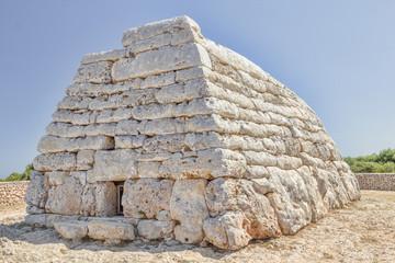Naveta des Tudons ossuary at Menorca island