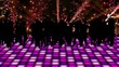 Dancing silhouette in a disco.