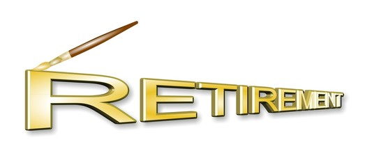 retirement in 3d concept