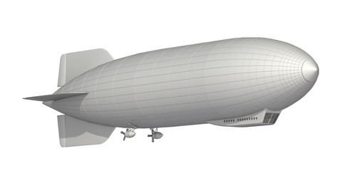 airship on a white background