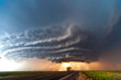 Leinwanddruck Bild - Severe thunderstorm in the Great Plains