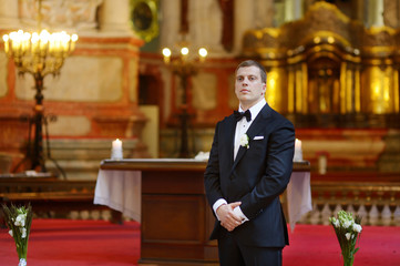 Groom waiting for the bride
