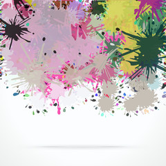 Abstract artistic vector background of bright color