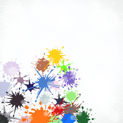 Colorful grunge splash paint abstract vector background