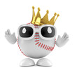 Baseball wears a golden crown
