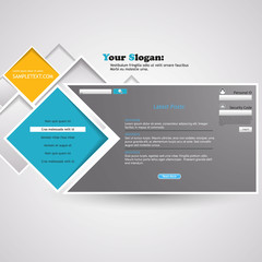 Abstract/Minimal Website template