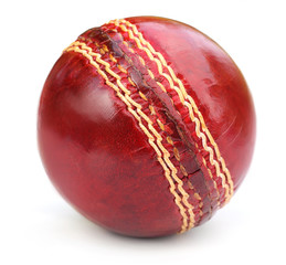 Cricket ball over white background