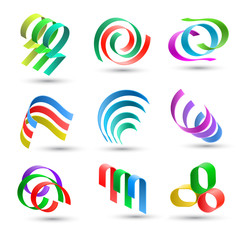 Abstract lines icons