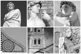 florentine art collage poster