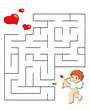 gioco labirinto con cuori