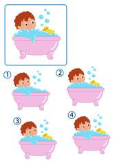 gioco, la vasca uguale