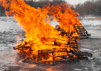 Two Pallet Fires