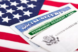 Social security and permanent resident card poster