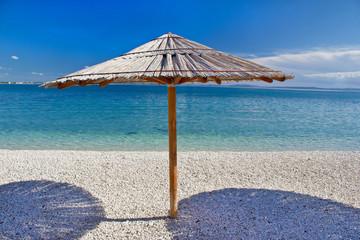 Turquoise pebble beach in Croatia