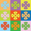 Farbige Keltische Knoten