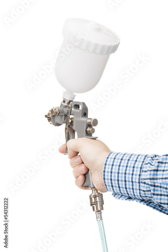 Spray gun used for industrial painting and coating