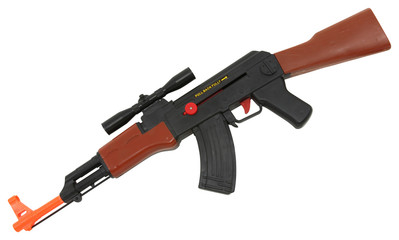 Plastic Toy AK47 Assault Rifle with Clipping Path