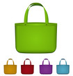 Green reusable bag vector