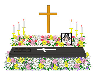 キリスト教徒の葬式