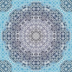 Lace circle oriental ornament, white ornamental doily pattern.