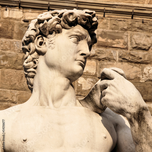 Close up of the famous David statue, Florence, Italy