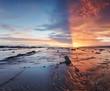 Sun ray from horizon