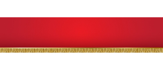 vector illustration of red banner