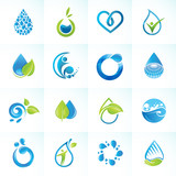 Fototapety Set of icons for water and nature
