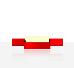 segna posto di color rosso