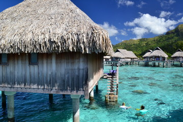 Paradise resort, Tahiti, French Polynesia