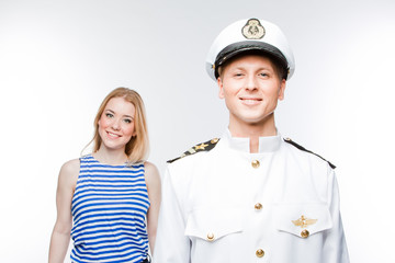 Marine captain and a woman