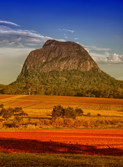 Mount Tibrogargan. Beautiful colors of Glasshouse Mountains Park