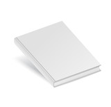 Gray book template on white background