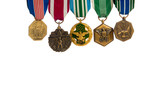 Row of military medals