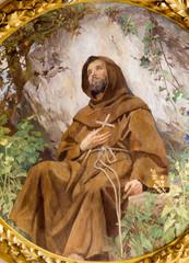 Vienna - Paint of st. Francis from vestibule of Schottenkirche