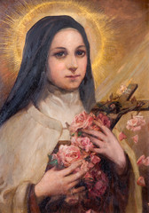 Vienna - Paint of hl. Theresia from Lisieux