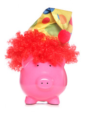 clown piggy bank