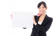 young asian businesswoman with whiteboard