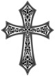 Ornate Christian Cross Vector - 54322280