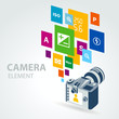 photo camera element icons