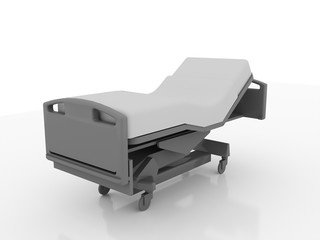 Hospital bed rendered