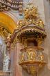 Vienna - Baroque pulpit in  st. Peter church