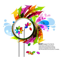 abstract Colorful spring background ,Vector.